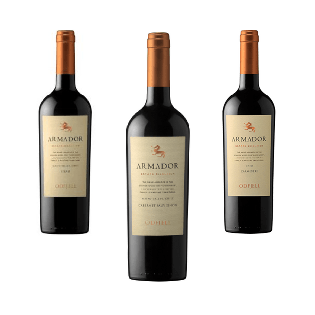 Trio of Organic Red Wines | Classic Wines | Armador, Chile
