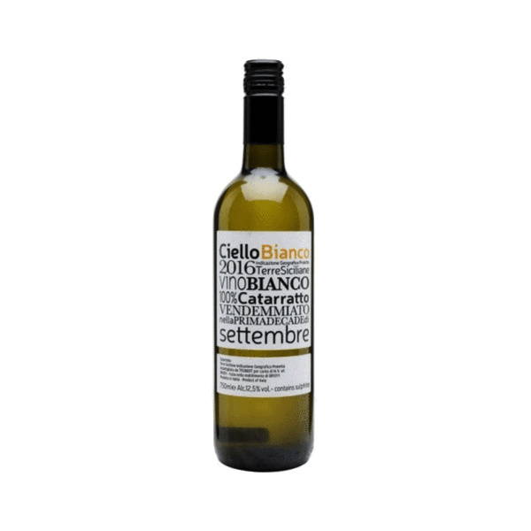 Ciello Bianco Catarratto, Sicily, Italy (natural wine, low sulphites)