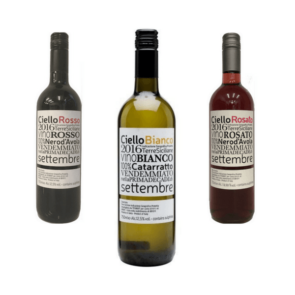 Trio of Mixed Organic Wines | Classic Wines | Cantina Rallo, Sicily