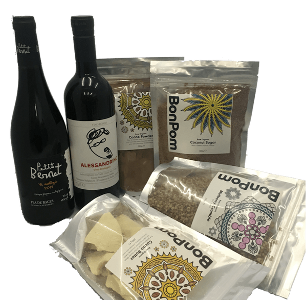 Organic wine & make your own chocolate hamper with 2 wines - Organic Wine Club