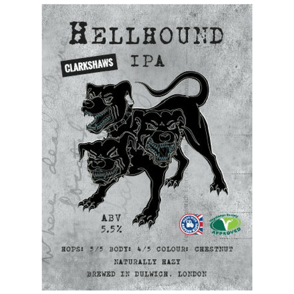 Hellhound IPA, Clarkshaws, Brixton, UK