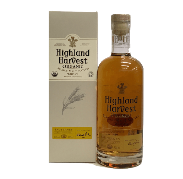 Highland Harvest Organic Single Malt Scotch Whisky - Sauternes casks - Organic Wine Club  - 1
