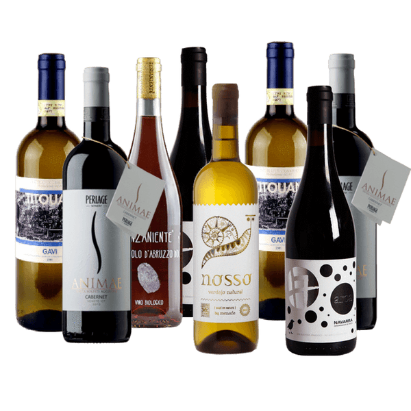 Organic Wine Club Mixed Case | 8 Organic Wines for a Dinner Party | No Added Sulphites *