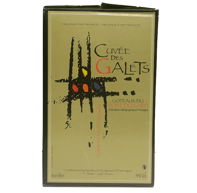 Cuvee des Galets Rouge 2015 Coteaux de Pays du Gard, France (5L Wine in a Box) - Organic Wine Club