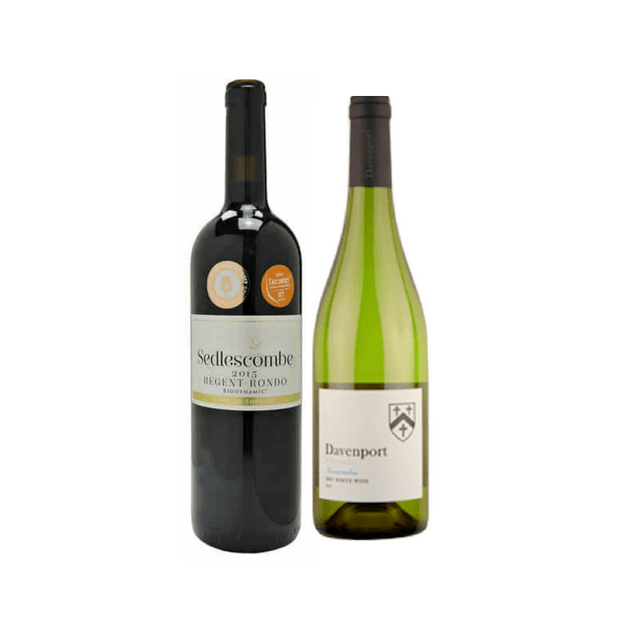 Organic Wine Gift | Pair of English Wines | Davenport & Sedlescombe