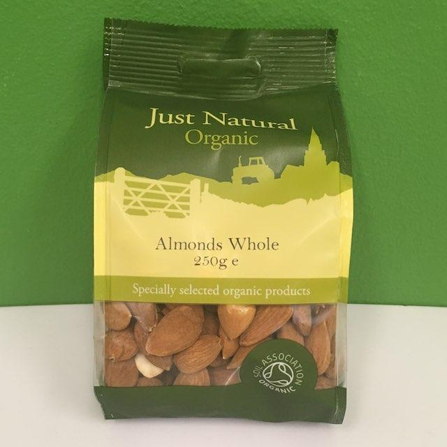 Organic Almonds - Just Natural - 250 g
