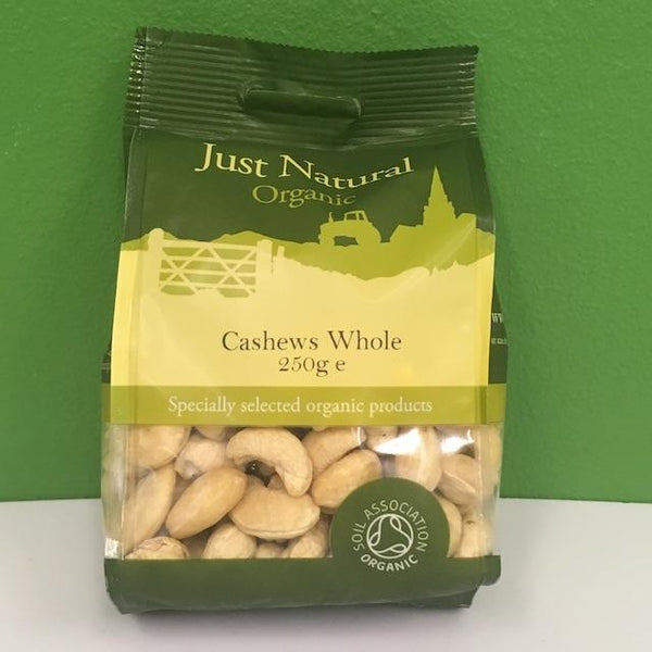 Organic Cashews Whole - Just Natural - 250 g