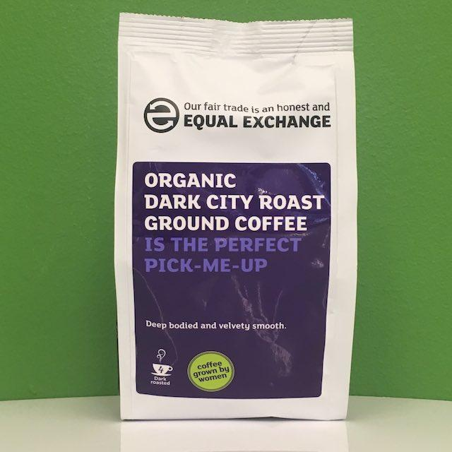 Equal Exchange Organic Dark City Roast Ground Coffee