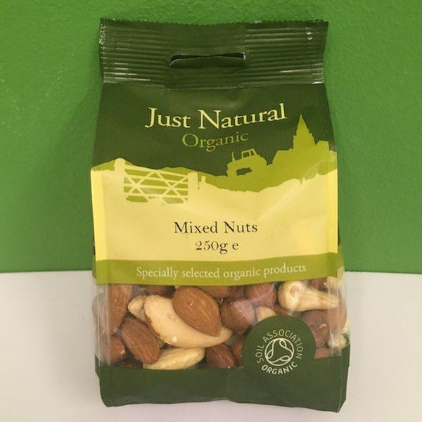 Organic Mixed Nuts - Just Natural - 250 g