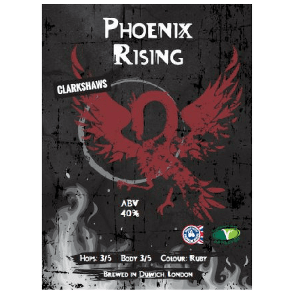 Phoenix Rising, Ruby Session Beer, Clarkshaws, Brixton, UK