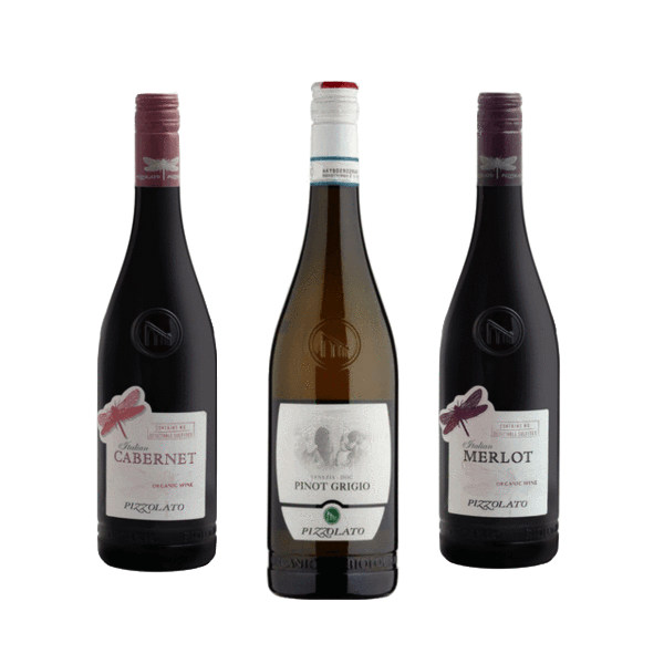 Trio of Organic White Wines | Classic Wines | Cantina Pizzolato, Italy