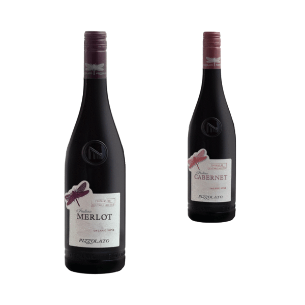 Duo of Organic Red Wines | Bestselling Wines | La Cantina Pizzolato, Italy