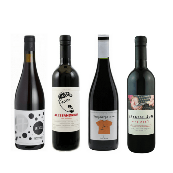 Strictly Sulphite Free Wine Case of 8/12 Organic Red Wines