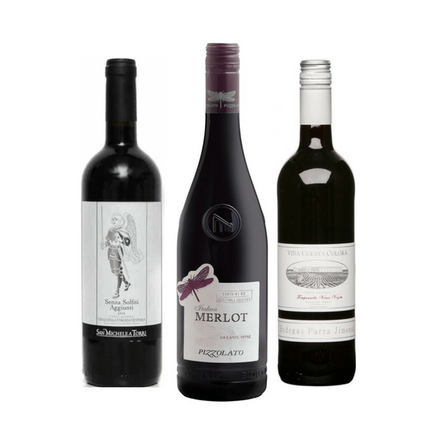 Strictly No Added Sulphites Wine Club Case | 6 Organic Red Wines