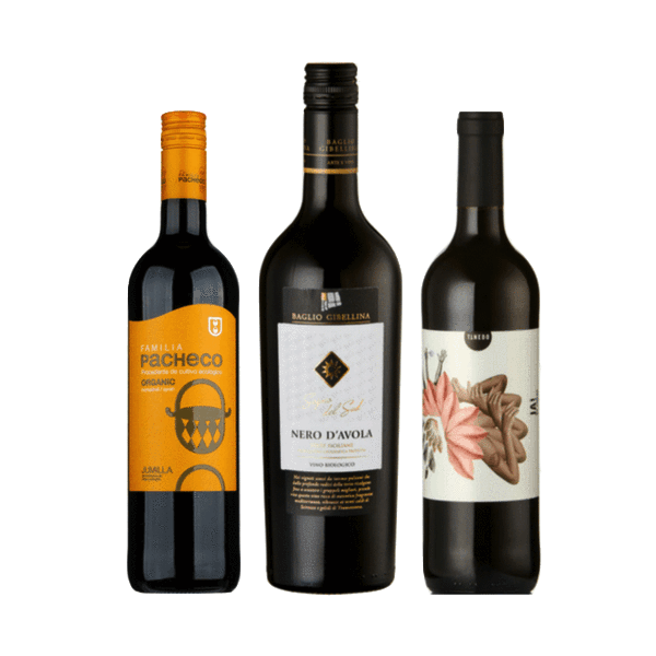 Best Value Wine Case | 6 Organic Red Wines