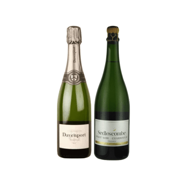 Organic Sparkling Wine Gift | Two English Sparkling Wines | Davenport & Sedlescombe