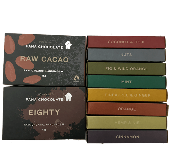 Set of 11 handmade organic chocolates: Vegan, Dairy Free, Gluten Free, No Refined Sugar - Organic Wine Club