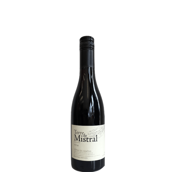Terres Mistral 2014 Cotes du Rhone, France - half bottle of unfiltered red wine