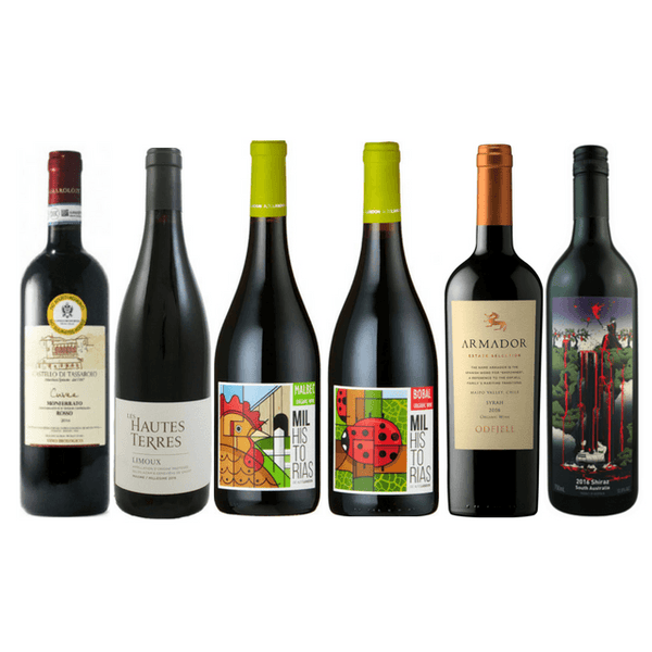 Taste of Organic Wine Club | Case of 6 Full Bodied Red Wines