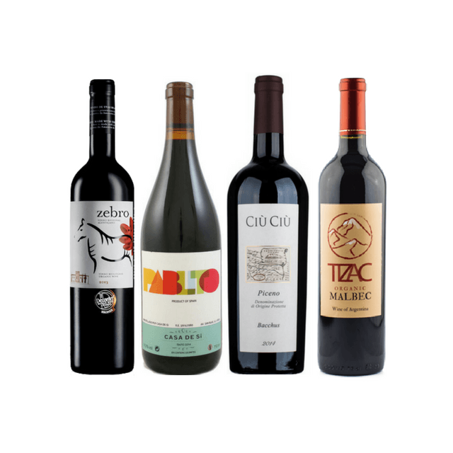 Taste of Organic Wine Club | 8/12 Round Red Wine Case