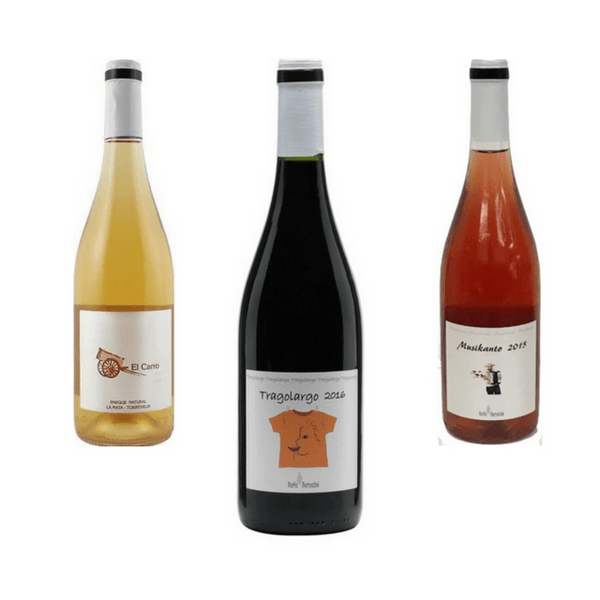 Trio of Mixed Organic Wines | Easy Drinking Wines | Rafa Bernabe, Spain