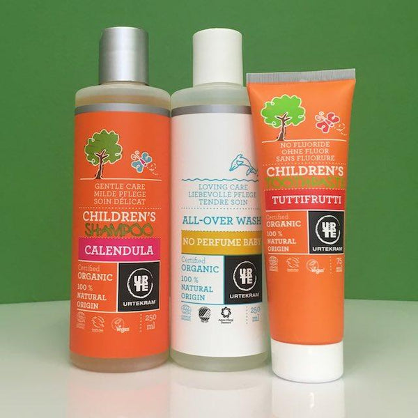 Urtekram Organic Children's Shampoo, Wash and Toothpaste