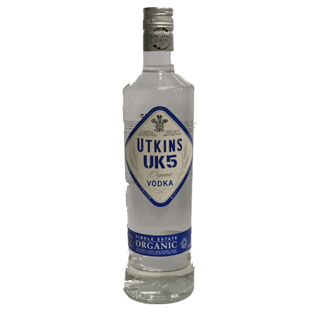 Utkins UK5 Single Estate Organic Vodka - Naturally Smooth - Organic Wine Club  - 1