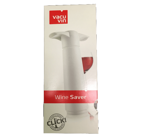 VacuVin Wine Saver: wine preservation kit - pump & two stoppers - Organic Wine Club