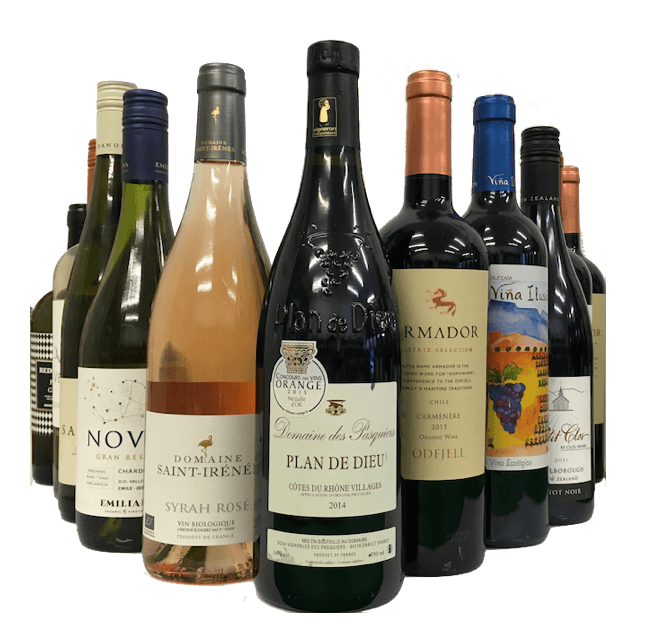 WSET Level 2 Award in Wines and Spirits Tasting Case of 12 Organic Wines - Organic Wine Club