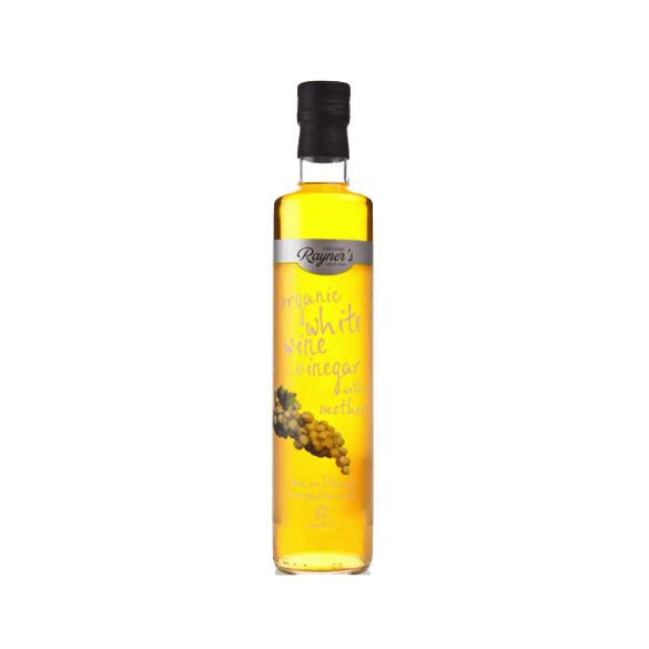 Rayners Organic White Wine Vinegar with Mother, UK (500mls)