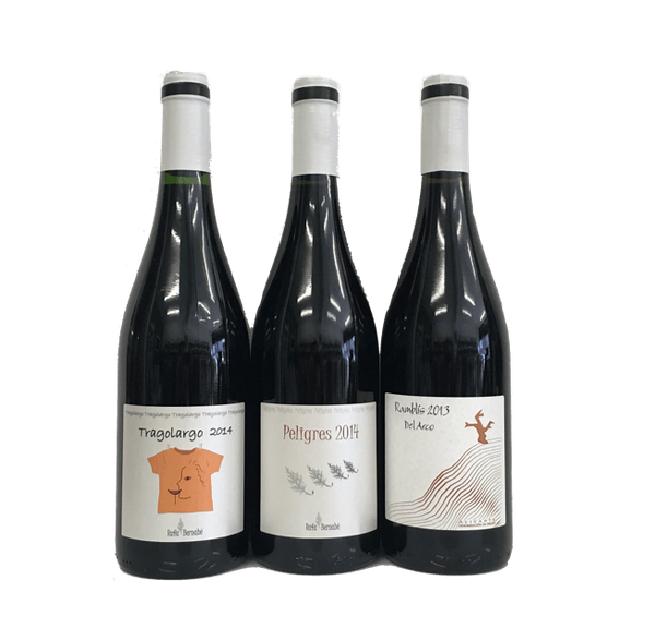 Advanced Natural Wine Tasting Pack: trio of wines with no added sulphites from Spain - Organic Wine Club