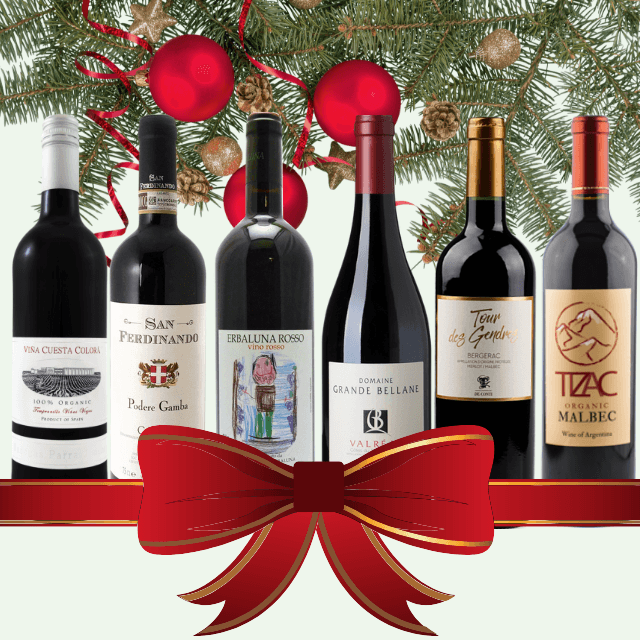 Festive Season's Wines | Case of 6/12 Natural Red Wines | Low Sulphur & Vegan Friendly