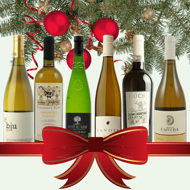 Festive Season's Wines | Case of 6/12 Natural White Wines | Low Sulphur & Vegan Friendly