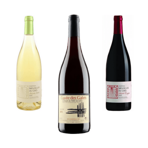 Trio of Mixed Organic Wines | Easy Drinking Wines | Mourgres du Gres, France