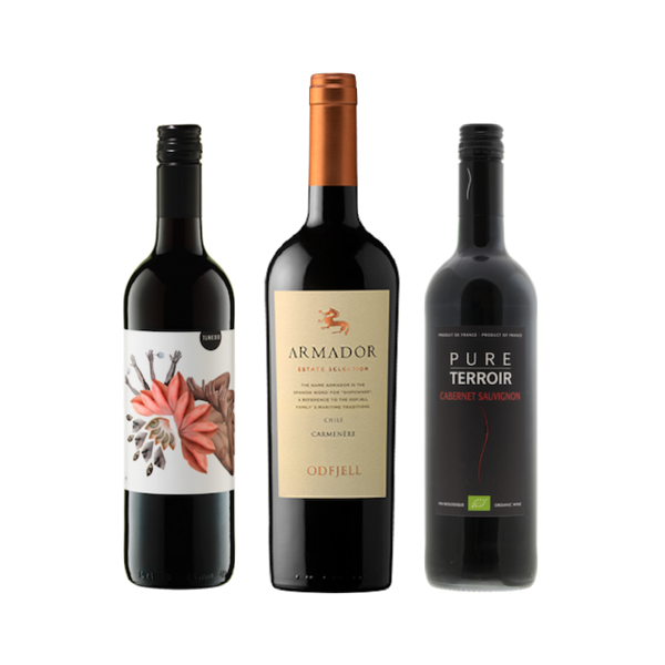 New2Organic | Wine Club Case of 6 Red Wines