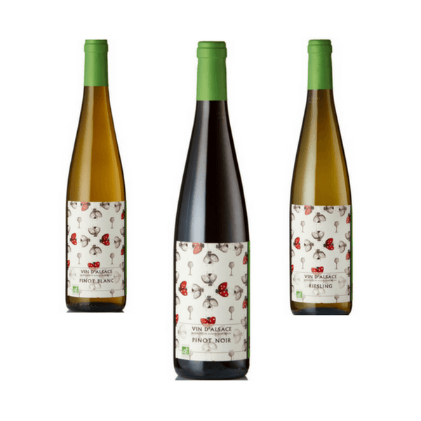 Trio of Mixed Biodynamic Wines | Classic Wines | Cave de Ribeauville, Alsace