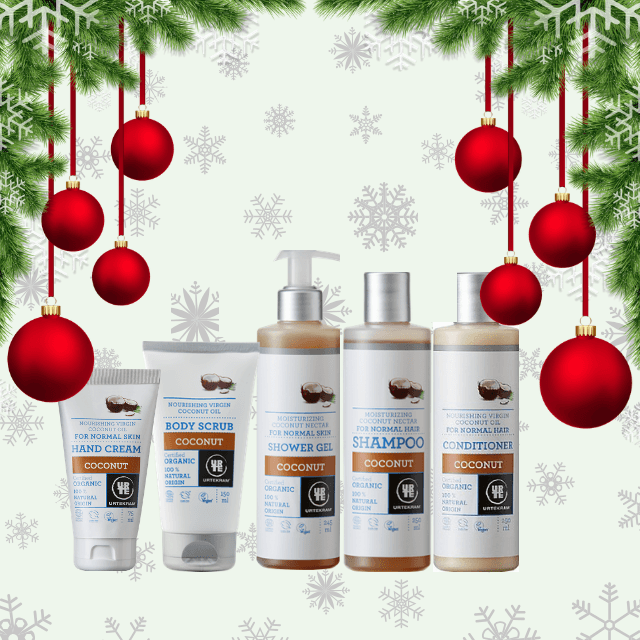 Festive Season Gifts | Gift set of Urtekram Organic Personal Care Range | Includes Exclusive Nina Moisturiser from Priorat, Spain