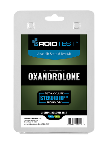 Oxandrolone 2-Step Test | Roidtest Anabolic Steroid Test Kit