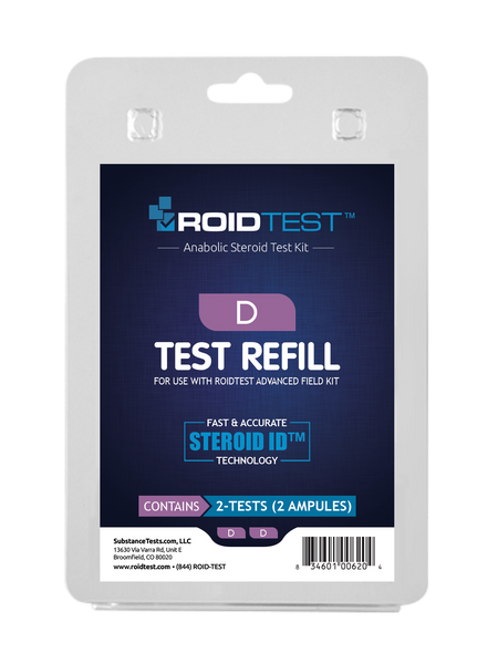 Substance Test D - ROIDTEST™ Refill (2 Tests) | Roidtest Anabolic Steroid Test Kit