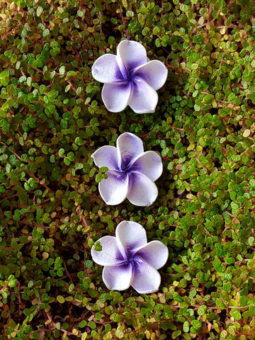 Flower Stepping Stones - Purple