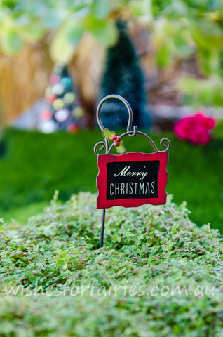 Christmas Sign With Hook