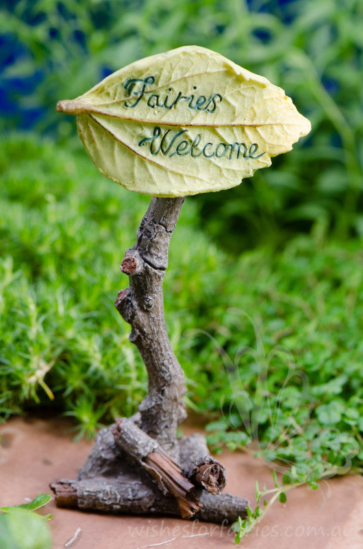 Fairies Welcome Sign