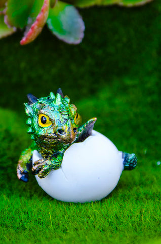 Hatching Baby Dragon - Green
