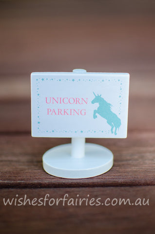 Unicorn Parking Sign