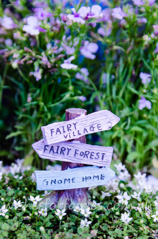 Fairy Tree Sign Post