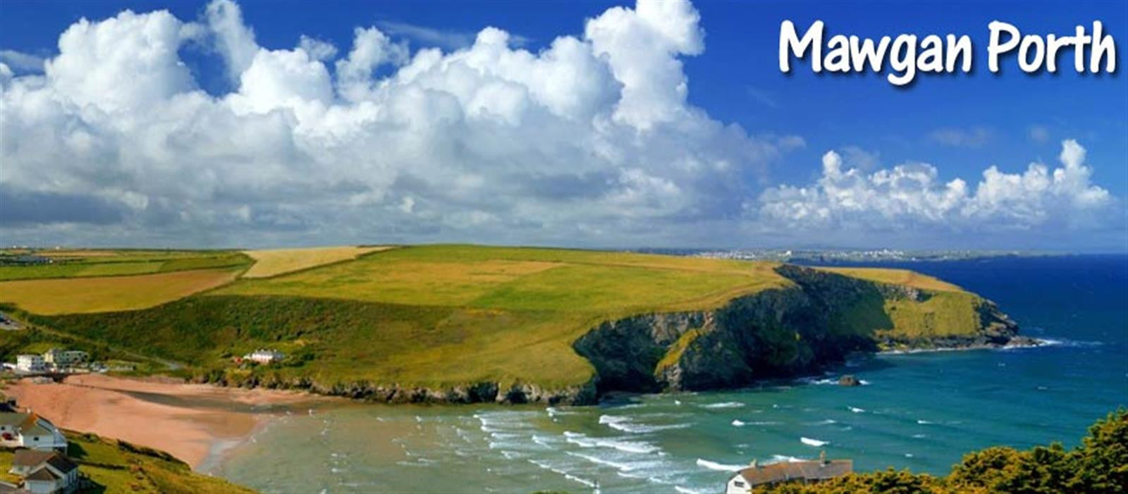 Mawgan Porth - Postcard Image of the bay