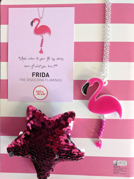 Party Animal Frida the Flamingo Disco Beads