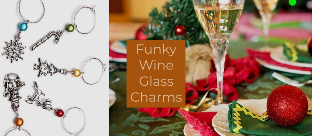 Disco beads wine Glass charms
