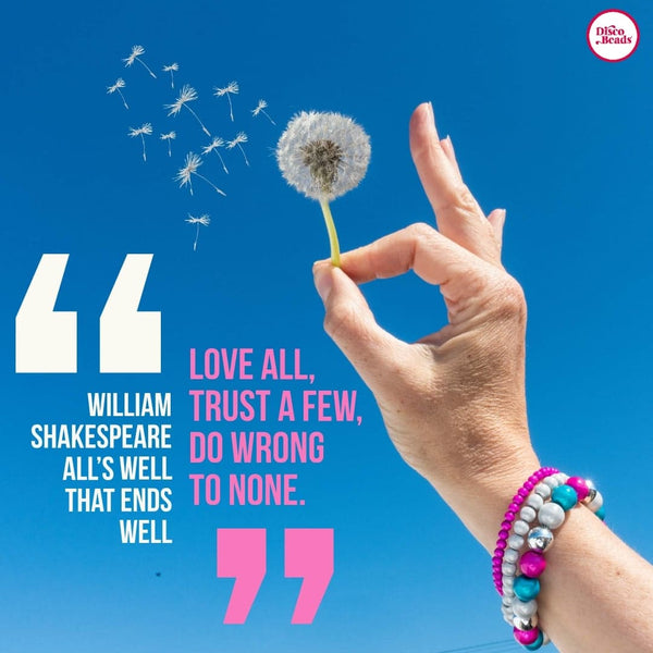 Shakespear quote Disco Beads