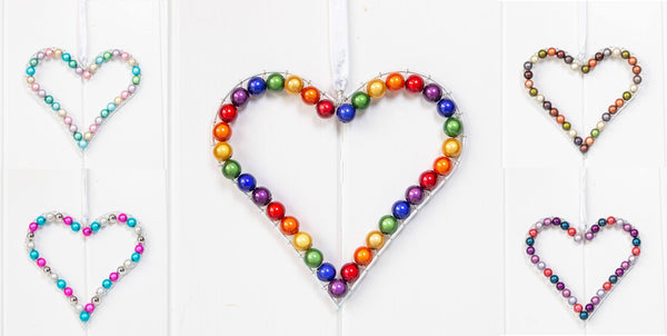 Wire Hearts Disco beads